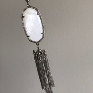 Kendra Scott Rayne Necklace silver and white